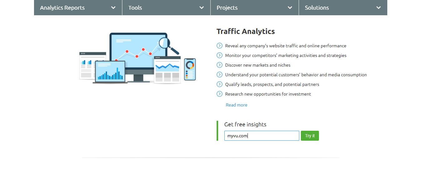 semrush-traffic analytics