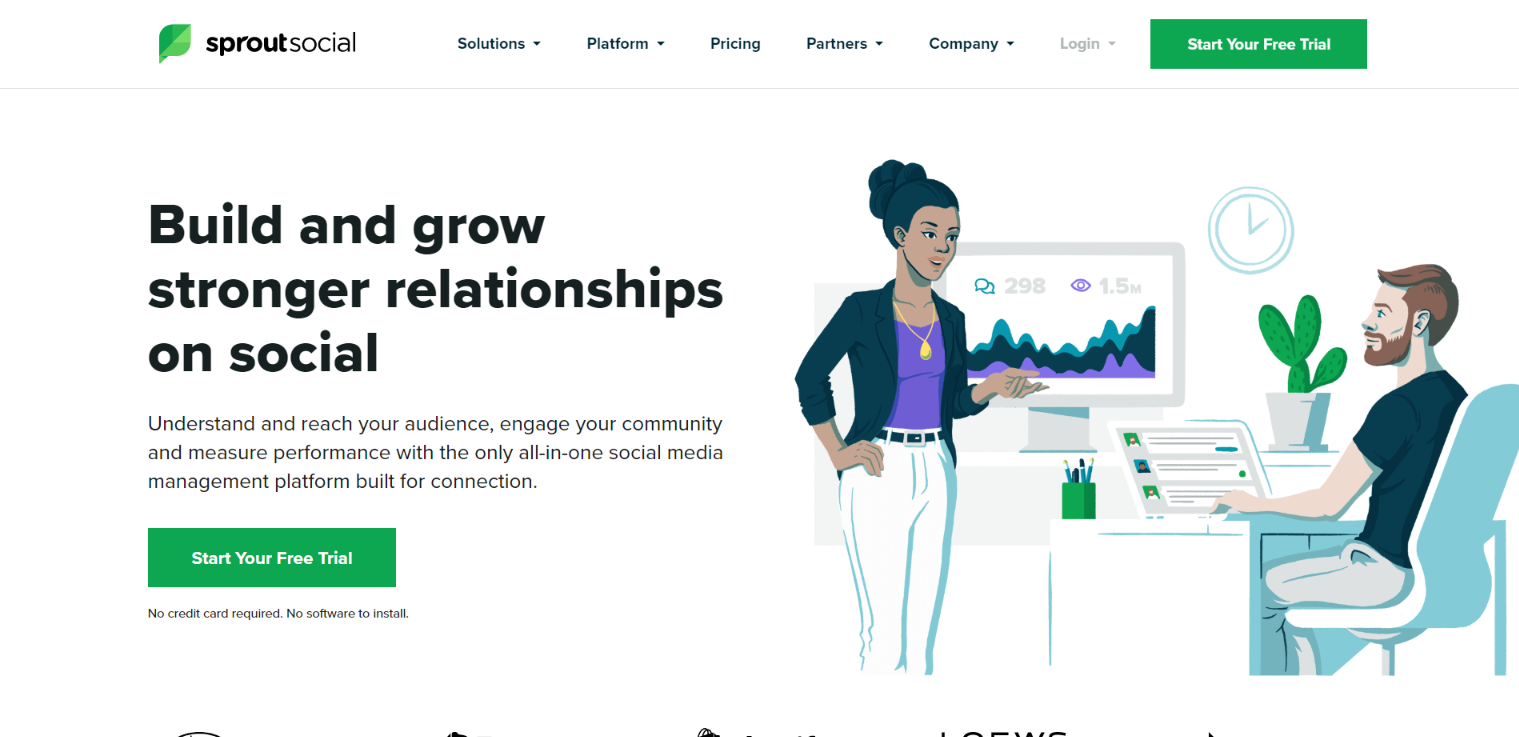Sprout Social homepage