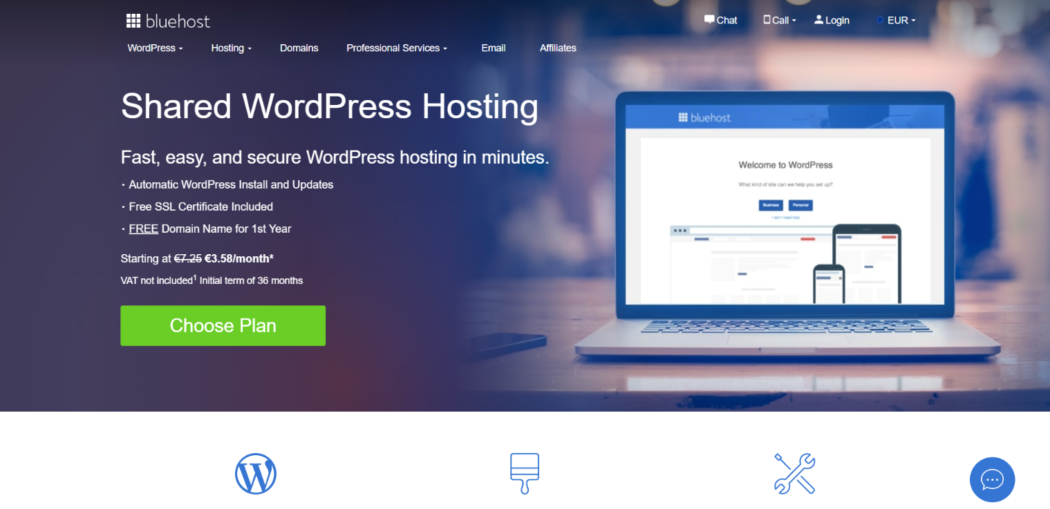 Bluehost Wp