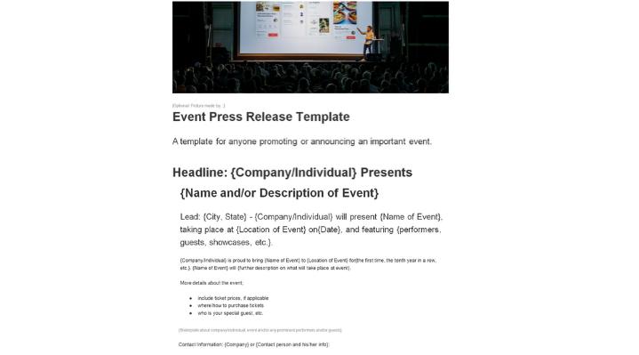 event-press-release