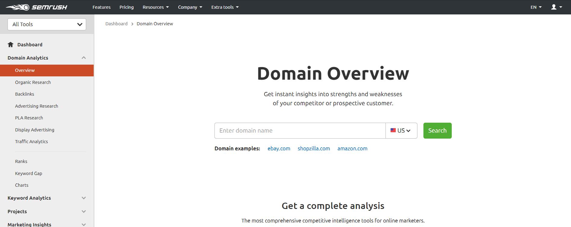 Domain-Overview-SEMrush