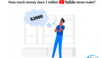 How much money does 1 million youtube views make?