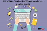 List of 100+ Top Earning Websites and their monthly income