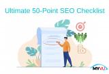 SEO Checklist – Complete 50 Point SEO Checklist